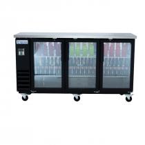 "Empura E-KBB72-3G-24 72"" Refrigerated Back Bar Storage Cabinet - 20.8 Cu Ft"