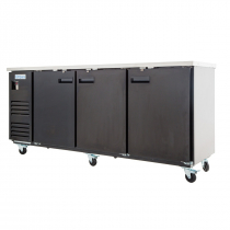 """Empura E-KBB903B Black Solid Door 27"""" Deep Back Bar Cooler - 90"""" Wide"""