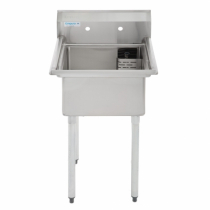 """Empura E-S1C181811 18""""  x 18"""" x 11"""" Stainless Steel 1 Compartment Sink"""