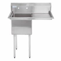 """Empura E-S1C182114-18R 18"""" x 21"""" x 14"""" Stainless Steel 1 Compartment Sink With 18"""" Right Drainboard"""