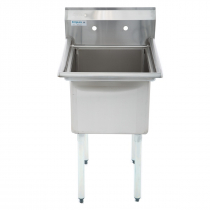 """Empura E-S1C182114 18"""" x 21"""" x 14"""" Stainless Steel 1 Compartment Sink"""