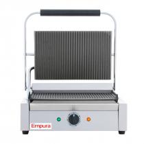 Empura E-SG-811 Single Grooved Commercial Panini Sandwich Grill - 120V, 1750W