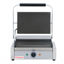 Empura E-SG-811E Single Grooved Commercial Panini Sandwich Grill - 120V, 1750W