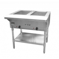 Empura E-ST-120/2 Two Pan Electric Steam Table with Undershelf - Open Well - 120V
