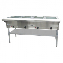 Empura E-ST-240/4 4 Pan Electric Steam Table with Undershelf - Open Well - 208-240V