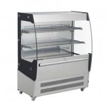 Empura E-VACM-200 Black Diamond Refrigerated Vertical Air Curtain Merchandiser - 200 Liter Storage Volume