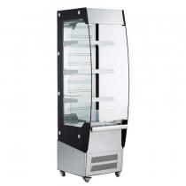 Empura E-VACM-220 Black Diamond Refrigerated Vertical Air Curtain Merchandiser - 220 Liter Storage Volume