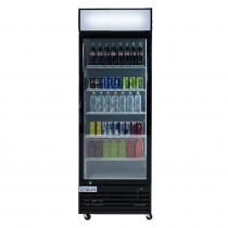 """Empura EGM-23B 27.6"""" Black Swing Glass Door Merchandiser Refrigerator With 1 Door, 23 Cubic Ft, 115 Volts"""