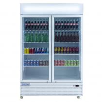 """Empura EGM-50W 52.4"""" White Swing Glass Door Merchandiser Refrigerator With 2 Doors, 50 Cubic Ft, 115 Volts"""