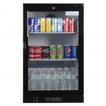 """Empura EGM-7B 21.4"""" Black Swing Glass Door Merchandiser Refrigerator With 1 Door, 7 Cubic Ft, 115 Volts"""