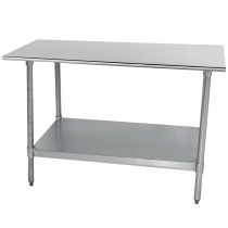 """Empura EM-SLAG-3060 30"""" x 60"""" Stainless Steel Commercial Work Table with Stainless Steel Legs and Undershelf"""