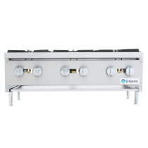 """Empura EMHP6-HD 36"""" Stainless Steel Heavy Duty Gas Hot Plate With 6 Burners, 159,000 BTU"""