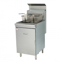"""Empura EMSF-70 21"""" Commercial Single Standing Gas Fryer With 70 lb Capacity, 150,000 BTU - Natural Gas"""