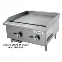 "Empura EMSG-36 36"" Stainless Steel Medium Duty Gas Griddle, 84,000 BTU"