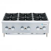 "Empura EMSHP-6 36"" Stainless Steel Medium Duty Gas Hot Plate With 6 Burners, 156,000 BTU"