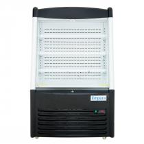 "Empura EOM-36SB 36.2"" Refrigerated Vertical Open Air Merchandiser 57.5"" Height - Stainless Steel and Black Exterior"