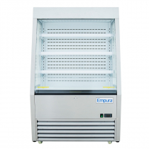 """Empura EOM-36SS 36.2"""" Refrigerated Vertical Open Air Merchandiser 57.5"""" Height - Stainless Steel Exterior"""