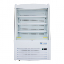 """Empura EOM-36W 36.2"""" Refrigerated Vertical Open Air Merchandiser 57.5"""" Height - Stainless Steel and White Exterior"""