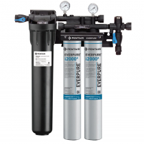 Everpure EV932422 INSURICE Twin i2000-2 Ice Filtration System with Pre-Filter 0.5 Micron and 3.34 GPM