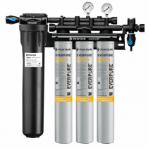 Everpure EV932773 INSURICE Triple PF-7CF-S Ice Filtration System with Pre-Filter 0.5 Micron and 7.5 GPM