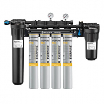 Everpure EV9329-74 High Flow CSR Quad-7FC 0.2 Micron and 10 GPM Water Filtration System with Pre Filter