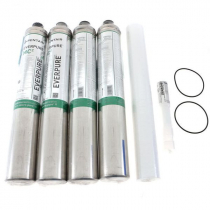 Everpure EV962828 Quad-MC Replacement Cartridge Kit With 0.2 Micron Rating And 6.0 GPM Flow Rate