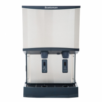 Scotsman HID525W-1 500 LB Meridian Water-Cooled Nugget Ice Machine Dispenser with Water Dispenser