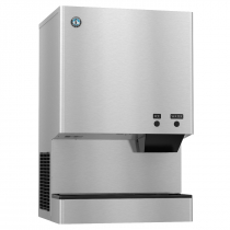 "Hoshizaki DCM-500BAH 618 lb 26"" Wide Air-Cooled Cubelet-Nugget Style Ice Machine and Water Dispenser w/ Bin"