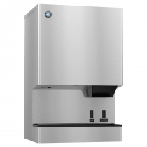 "Hoshizaki DCM-500BWH-OS 590 lb 26"" Wide Water-Cooled Cubelet-Nugget Style Ice Machine and Water Dispenser w/ Bin"