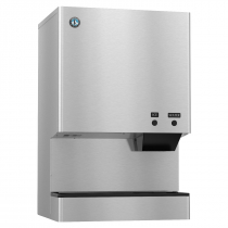 "Hoshizaki DCM-500BWH 590 lb 26"" Wide Water-Cooled Cubelet-Nugget Style Ice Machine and Water Dispenser w/ Bin"