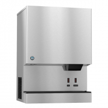 "Hoshizaki DCM-751BAH-OS 801 lb 34-1/16"" Wide Air-Cooled Cubelet-Nugget Style Ice Machine and Water Dispenser w/ Bin"