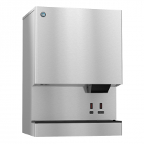 "Hoshizaki DCM-751BWH-OS 782 LB 34-1/16"" Wide Water-Cooled Cubelet-Nugget Style Ice Machine and Water Dispenser w/ Bin"