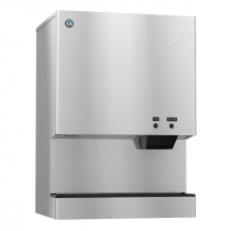 """Hoshizaki DCM-751BWH 782 lb 34-1/16"""" Wide Water-Cooled Cubelet-Nugget Style Ice Machine and Water Dispenser w/ Bin"""