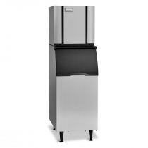 "Ice-O-Matic CIM0320HW/B42PS 316 LB 22"" Water-Cooled Half Cube Ice Machine With Storage Bin, 115V"