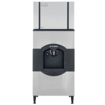 "Ice-O-Matic CIM0430FA/CD40130 435 LB 30"" Wide Air-Cooled Full Cube Ice Machine w/CD40130 Hotel Dispenser"