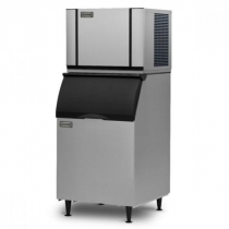 "Ice-O-Matic CIM0430HW/B40PS 460 LB 30"" Water-Cooled Half Cube Ice Machine w/ Storage Bin"