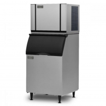 "Ice-O-Matic CIM0530HW/B55PS 586 LB 30"" Water-Cooled Half Cube Ice Machine With Storage Bin, 115V"