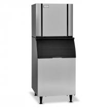 "Ice-O-Matic CIM1136HW/B55PS 968 LB 30"" Water-Cooled Half Cube Ice Machine w/ Storage Bin"