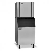 "Ice-O-Matic CIM1137HW/B55PS 994 LB 30"" Water-Cooled Half Cube Ice Machine w/ Storage Bin"
