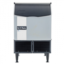 "Ice-O-Matic ICEU150FW 24.54"" Water Cooled Undercounter Full Cube Ice Machine - 180 lb."