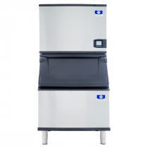 "Manitowoc IDF0300A/D400 Indigo NXT 30"" Air-Cooled 325 LB Full Dice Cube Ice Machine w/ Storage Bin"