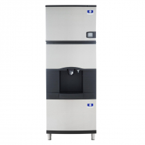 "Manitowoc IDF0300A/SFA291 30"" Air-Cooled 325 LB Full Dice Cube Ice Machine w/ SFA291 Hotel Dispenser"