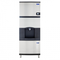 "Manitowoc IDF0300A/SPA310 30"" Air-Cooled 325 LB Full Dice Cube Ice Machine w/ SPA310 Hotel Dispenser"