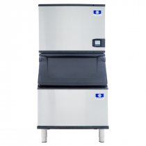 "Manitowoc IDT0500A/D400 Indigo NXT 30"" Air-Cooled 520 LB Full Dice Cube Ice Machine w/ Storage Bin"
