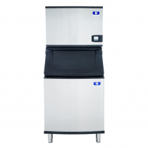 "Manitowoc IDT0500W/D570 Indigo NXT 30"" Water-Cooled 500 LB Full Dice Cube Ice Machine w/ Storage Bin"
