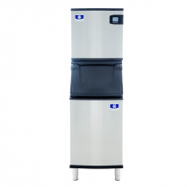 "Manitowoc IDT0620A/D420 Indigo NXT 22"" Air-Cooled 560 LB Full Dice Cube Ice Machine w/ Storage Bin"