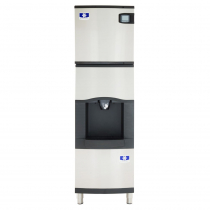 "Manitowoc IYT0420A/SFA191 22"" Air-Cooled 460 LB Half Dice Cube Ice Machine w/ SFA191 Hotel Dispenser"