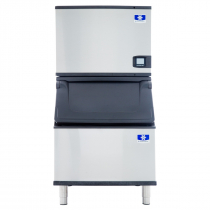 "Manitowoc IYT0450W/D400 Indigo NXT 30"" Water-Cooled 470 LB Half Dice Cube Ice Machine w/ Storage Bin"