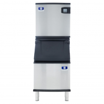 "Manitowoc IYT0620W/D320 Indigo NXT 22"" Water-Cooled 560 LB Half Dice Cube Ice Machine w/ Storage Bin"