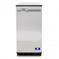 "Manitowoc SM50A 14 3/4"" Air Cooled Undercounter Octagonal Cube Ice Machine with 25 lb. Bin - 53 lb."